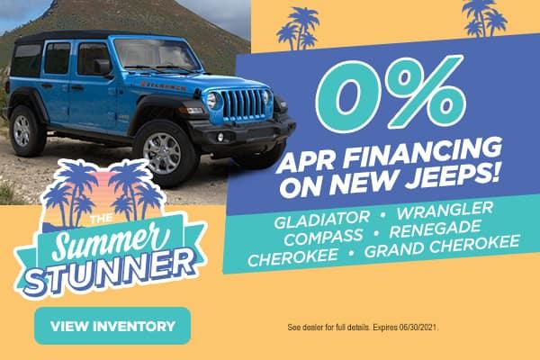 0% APR on New Jeeps