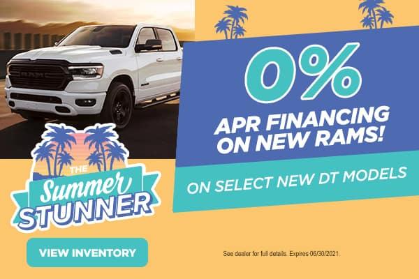 0% APR on New Rams