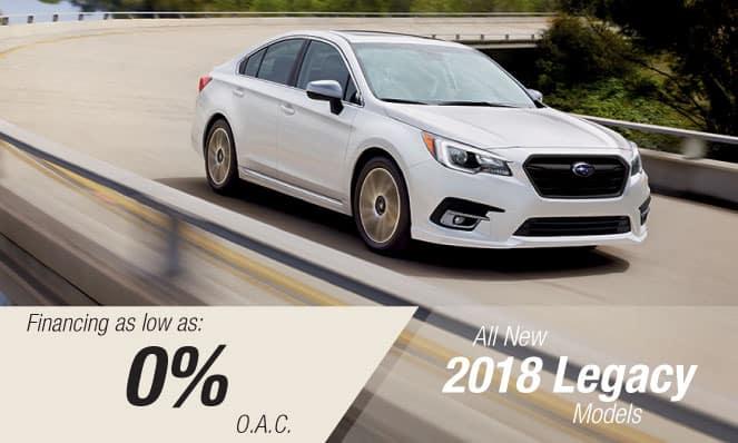 2018 Subaru Legacy Financing