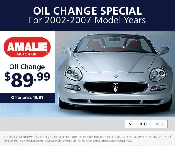 Vintage Maserati Oil Change