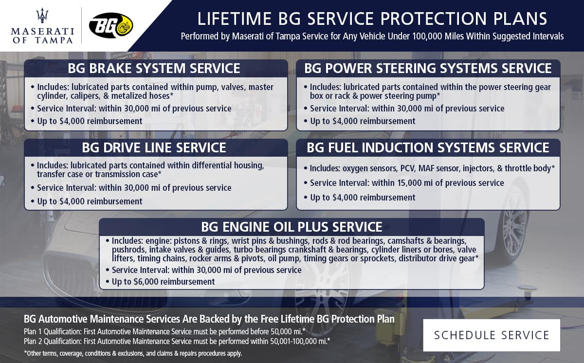Maserati BG Service Protection Plan