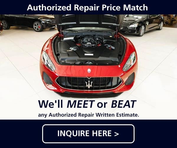 July Maserati Authorized Repair Price Match Special
