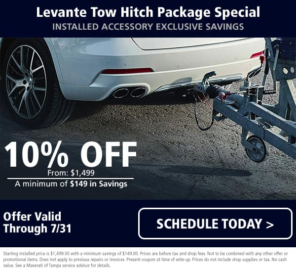 July Maserati Tow Hitch Special