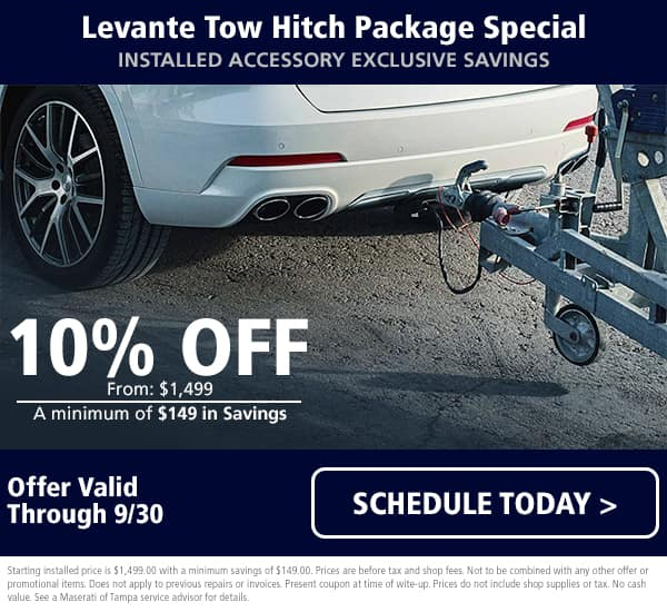 Levante Tow Hitch Package