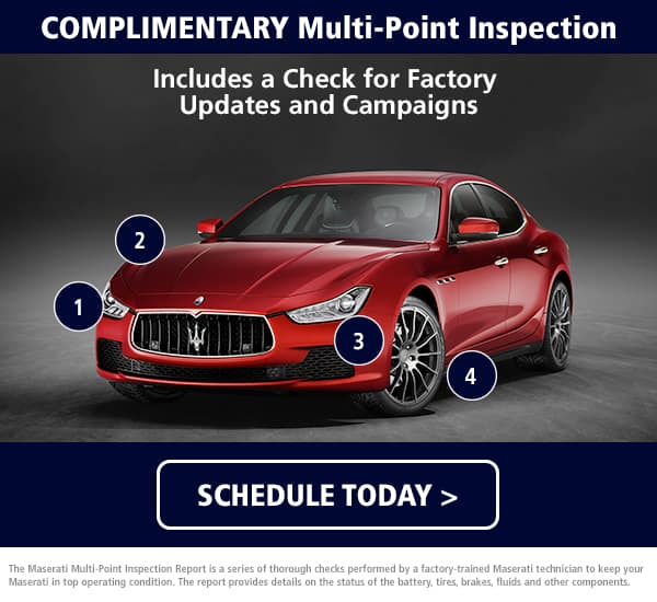 Maserati Multi-Point Inspection