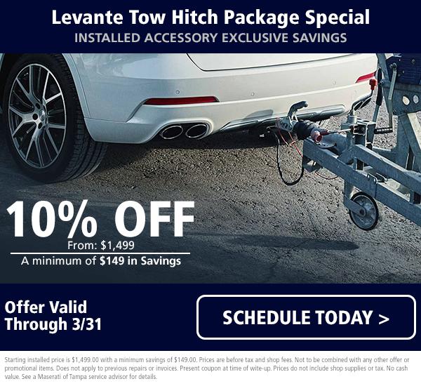 Maserati Levante Tow Hitch Special