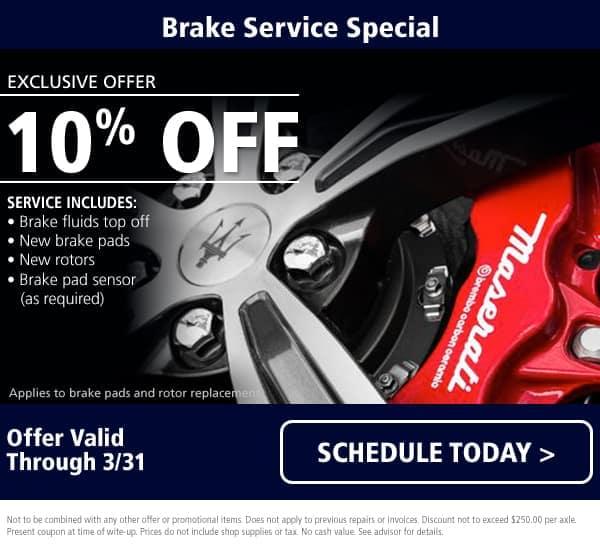 Maserati Brake Service Special