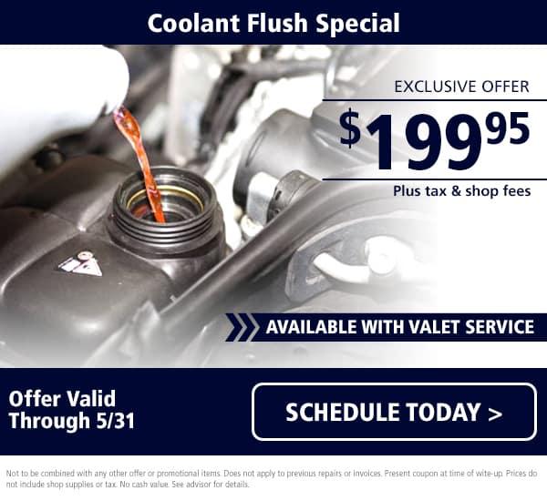 Maserati Coolant Flush Special