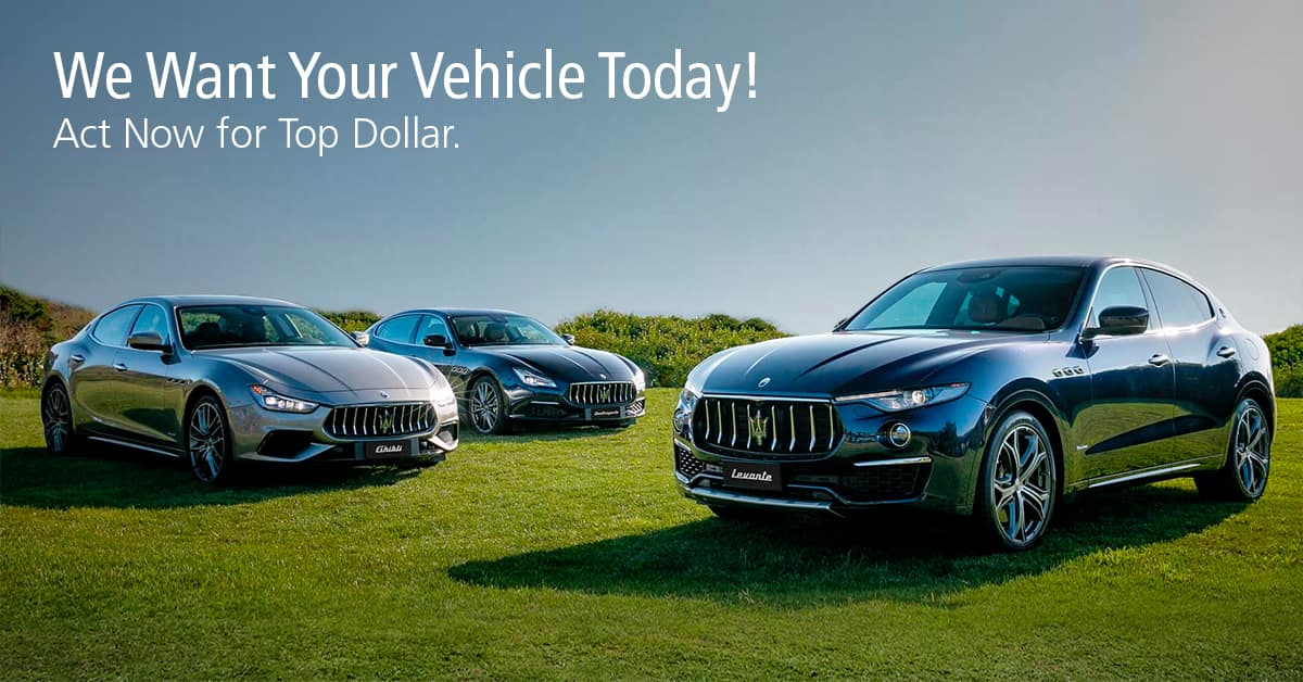 Maserati of Tampa We Want Your Vehicle
