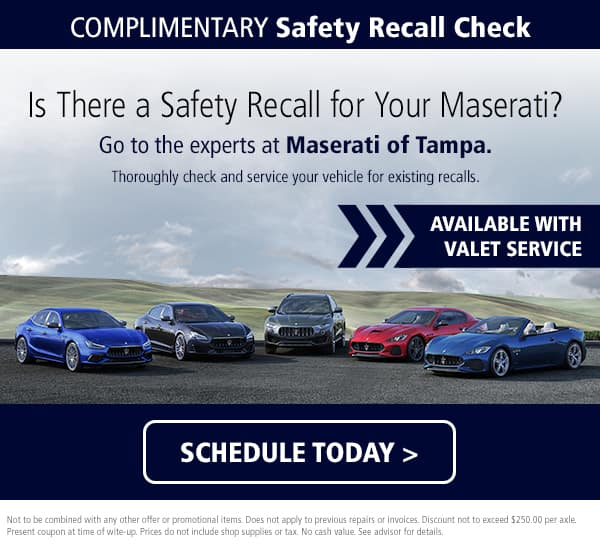 Maserati Safety Recall Check