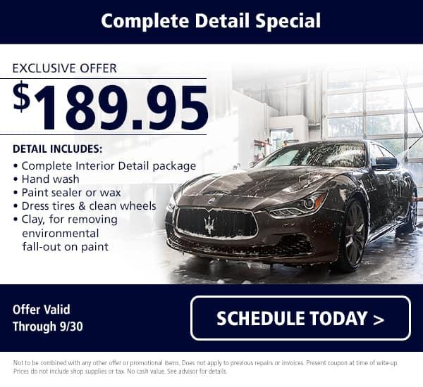 Maserati Detail Special