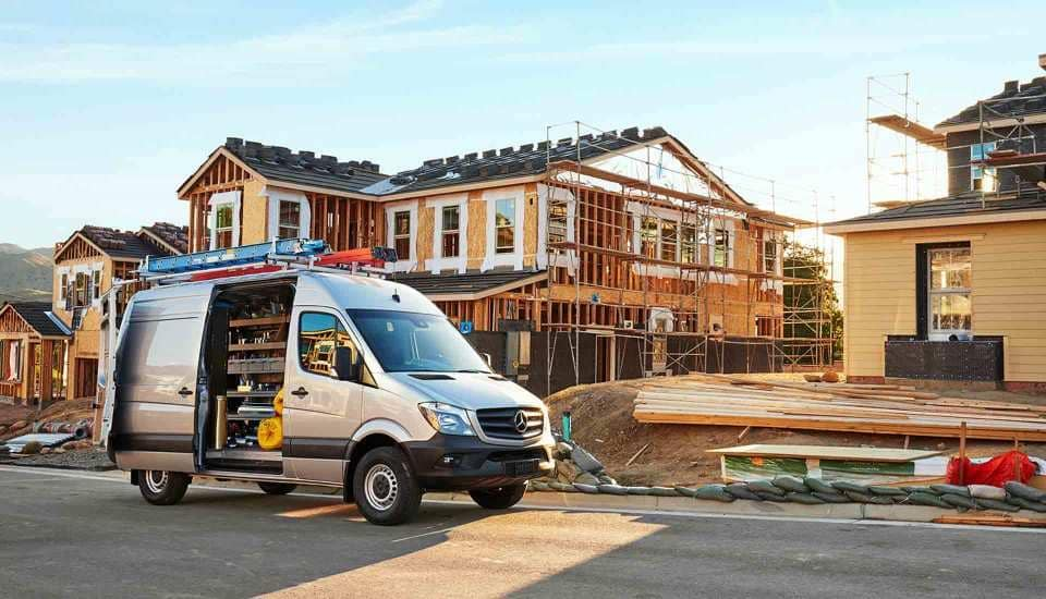 2018 Sprinter Cargo Van Exterior on jobsite