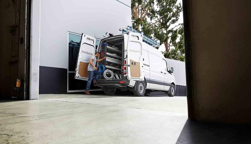 2018 Sprinter Cargo Van Exterior and Storage space