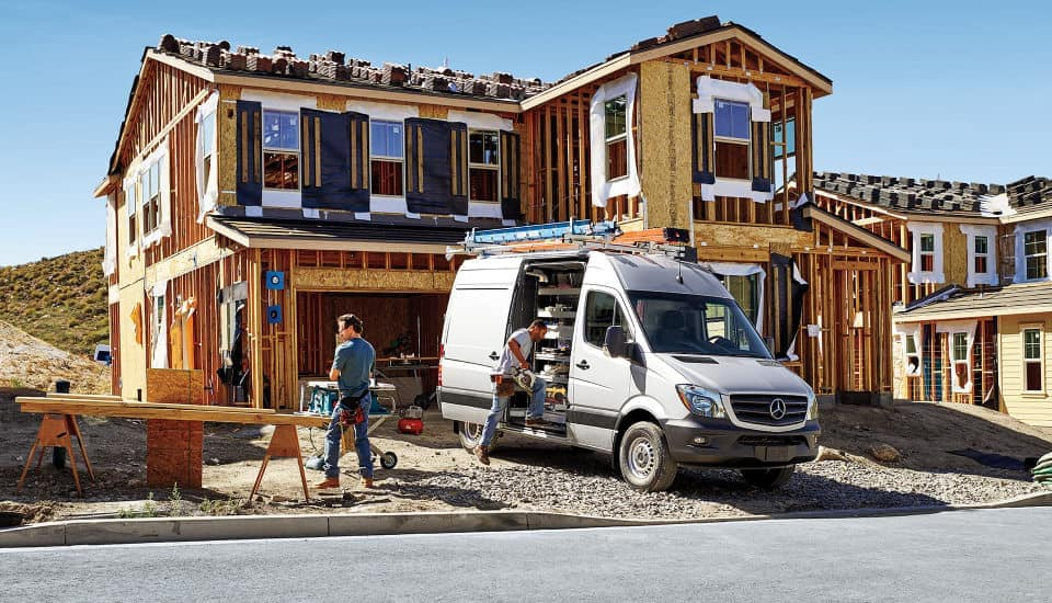 2018 Sprinter Cargo Van Exterior on the Job