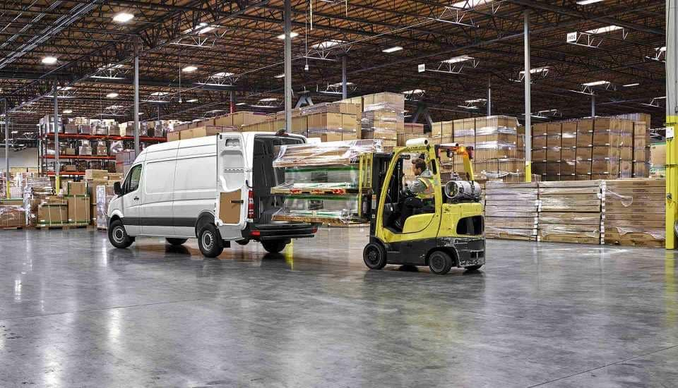 2018 Sprinter Cargo Van Exterior in Warehouse