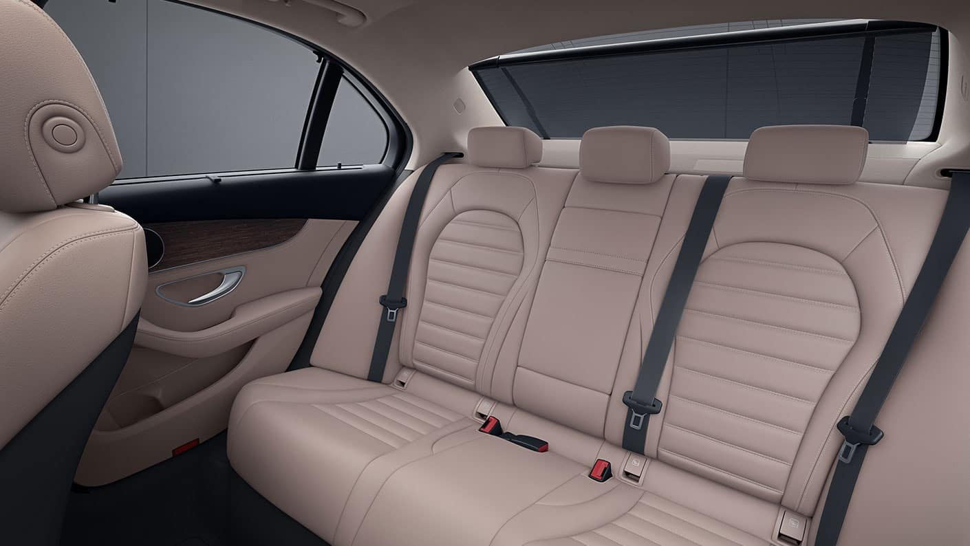 2019 Mercedes-Benz C-Class back row seating