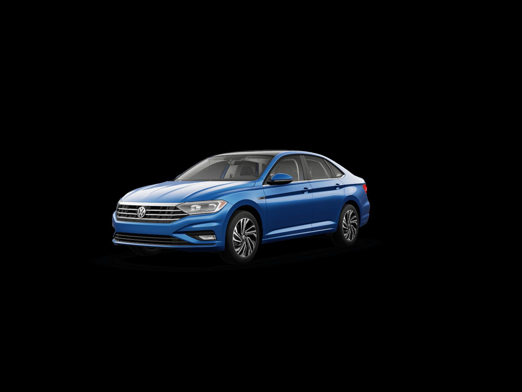 Blue  VW Jetta SEL Premium