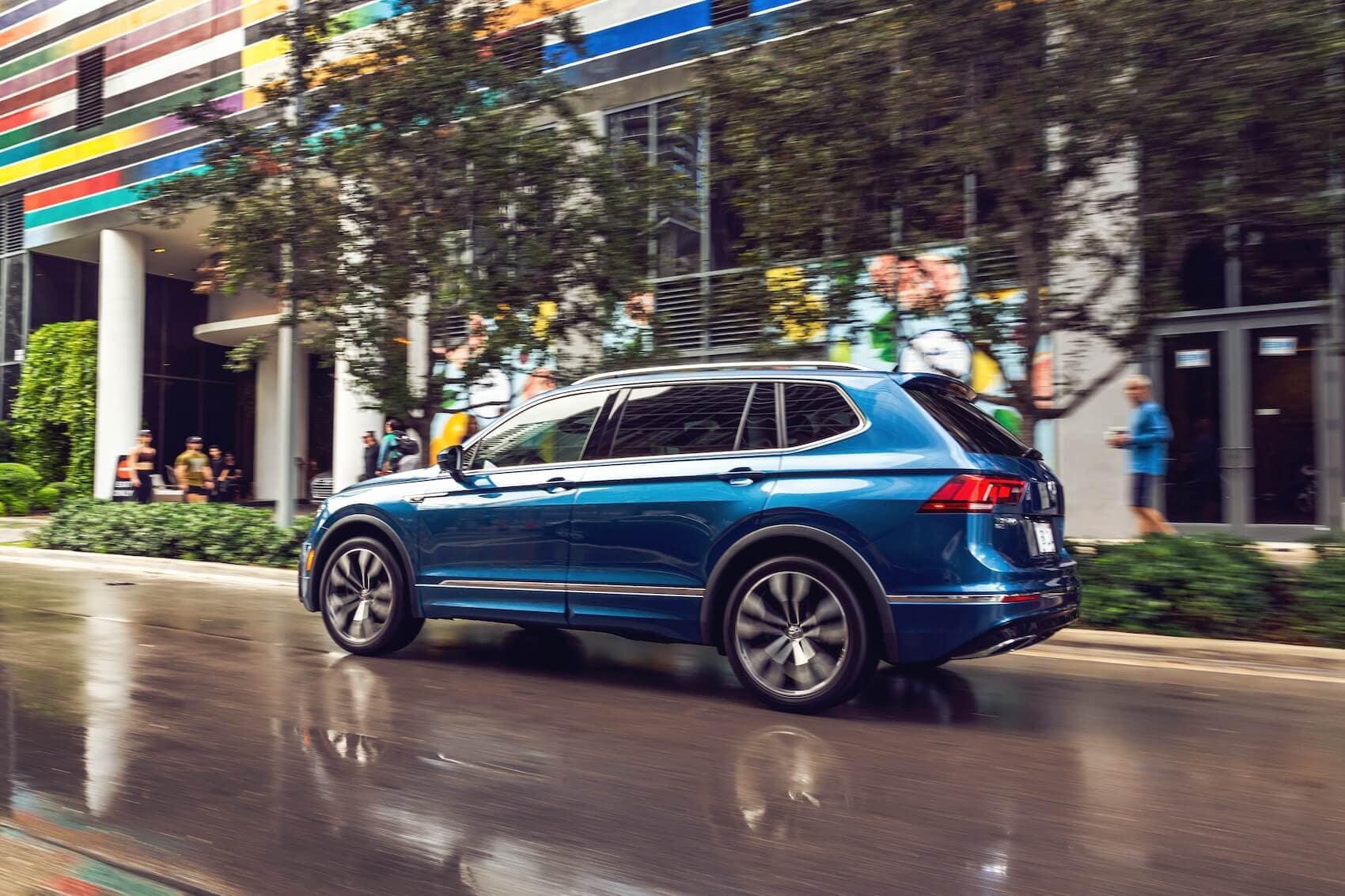 Blue VW Tiguan Side Design