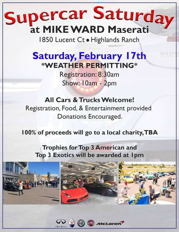 Supercar Saturday Flyer - February 2018