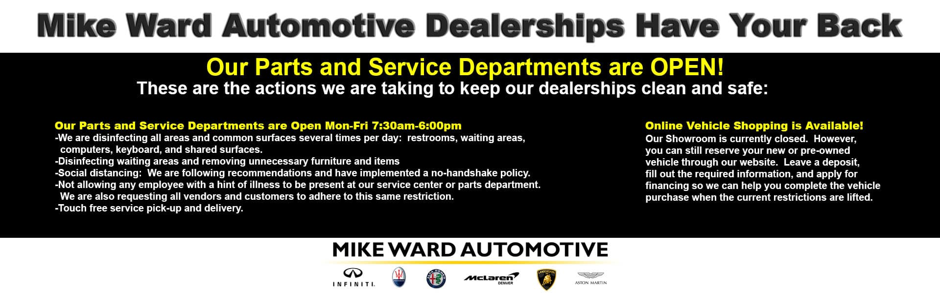 Mike Ward Automotive Dealerships Have Your Back