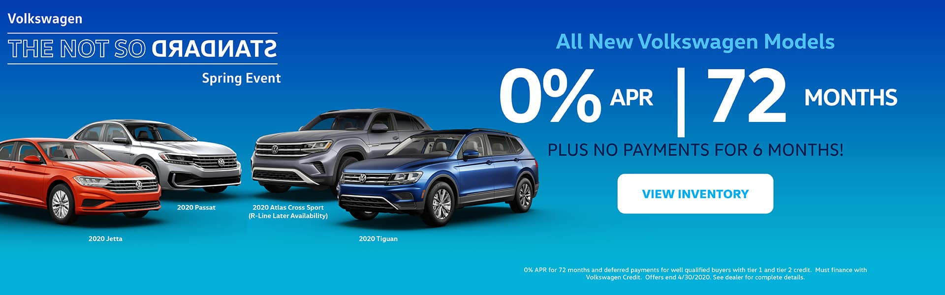 0% APR for 72 Months! PLUS NO PAYMENTS FOR 6 MONTHS!