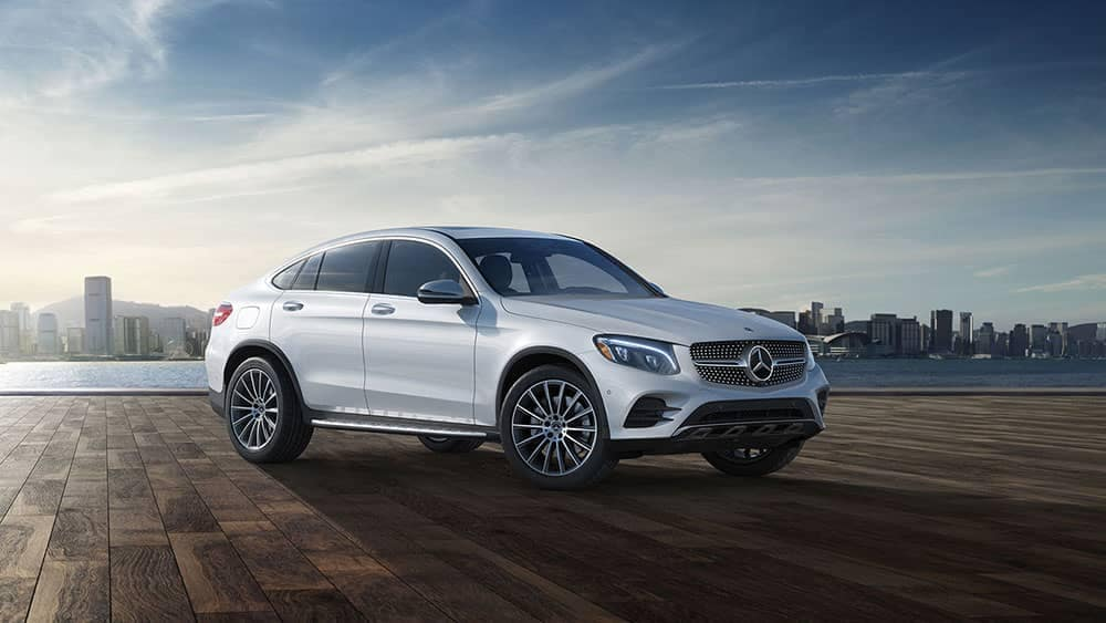 2019 Mercedes-Benz GLC in front of the city