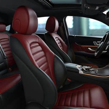 2019 Mercedes-Benz GLC red seating