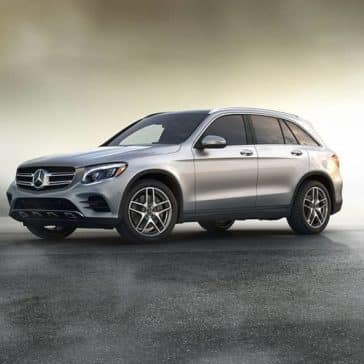 2019 Mercedes-Benz GLC in the mist