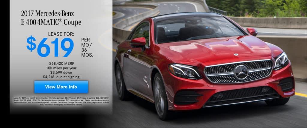 2017 Mercedes-Benz E 400 4MATIC® Coupe
