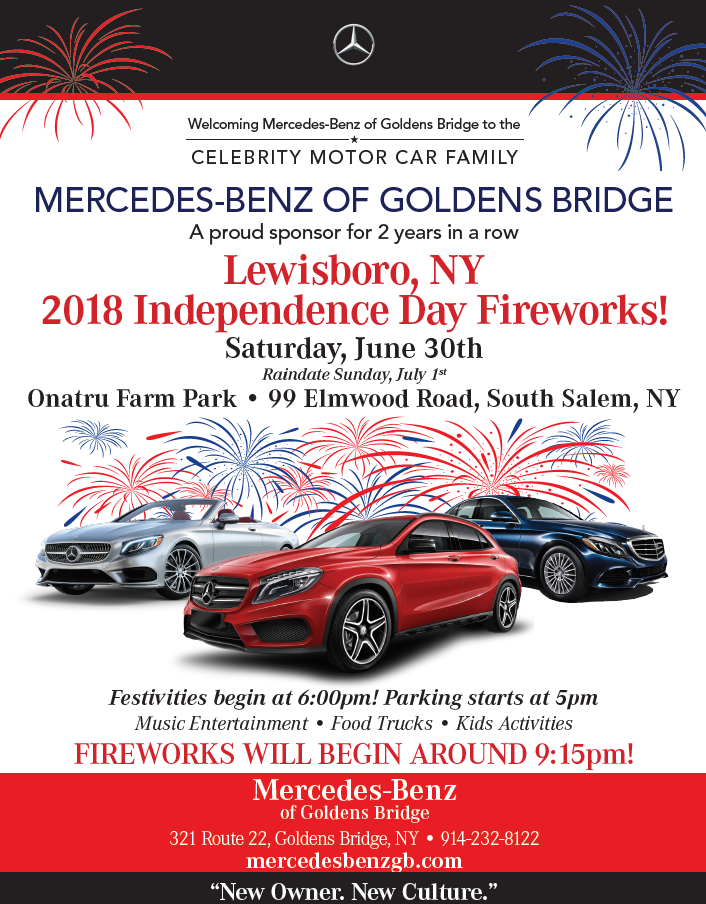 independence day fireworks mercedes benz of goldens bridge