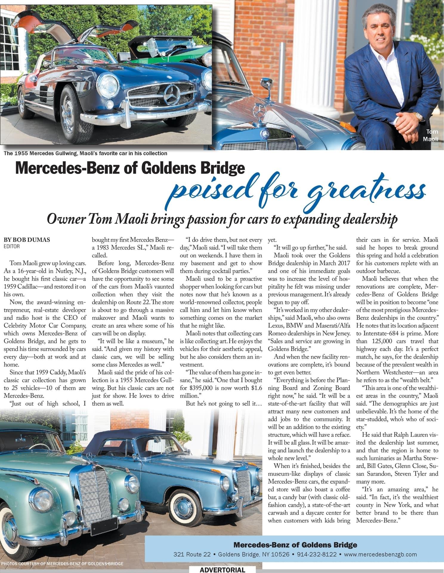 Mercedes-Benz of Goldens Bridge Advertorial