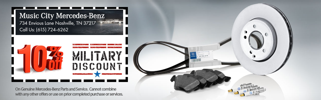 military Discount parts and service