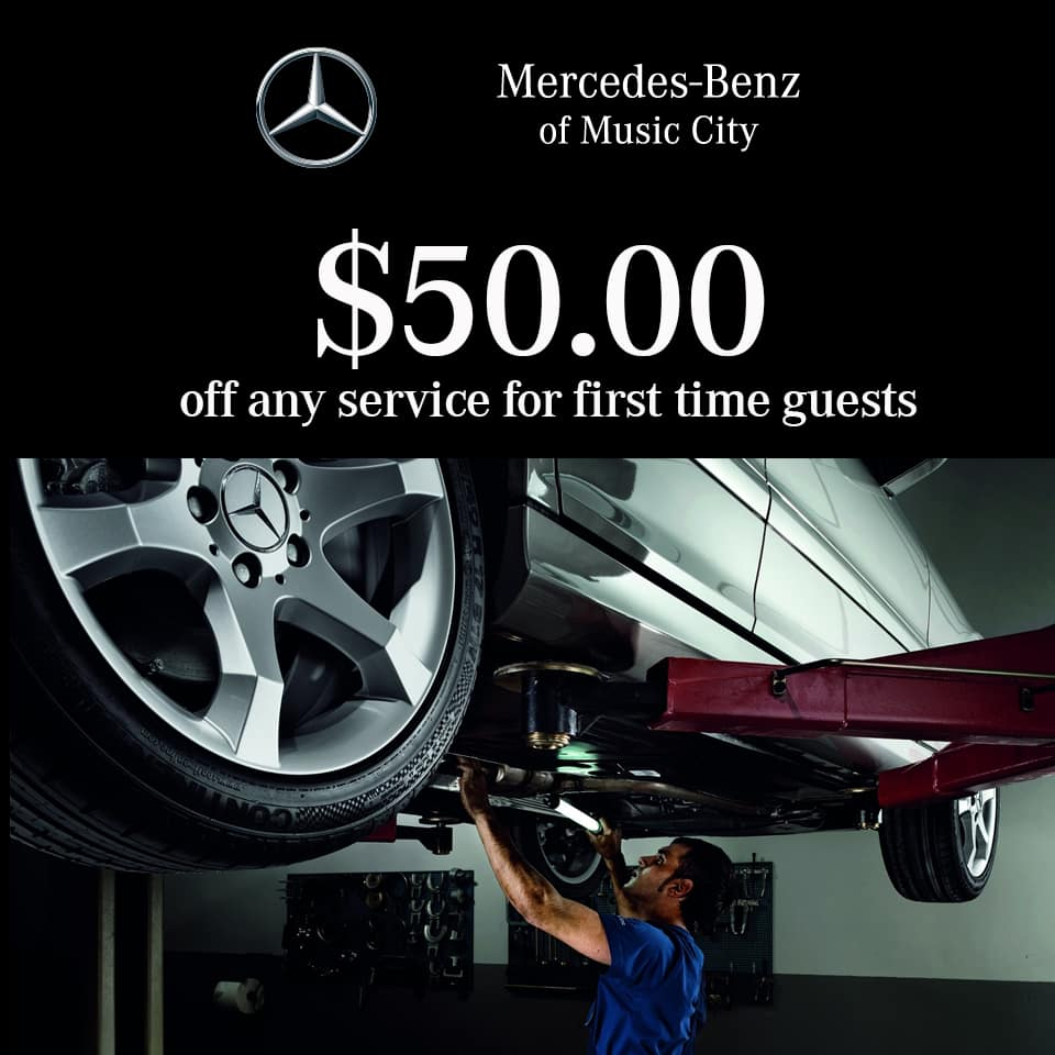 50 dollars off mercedes service