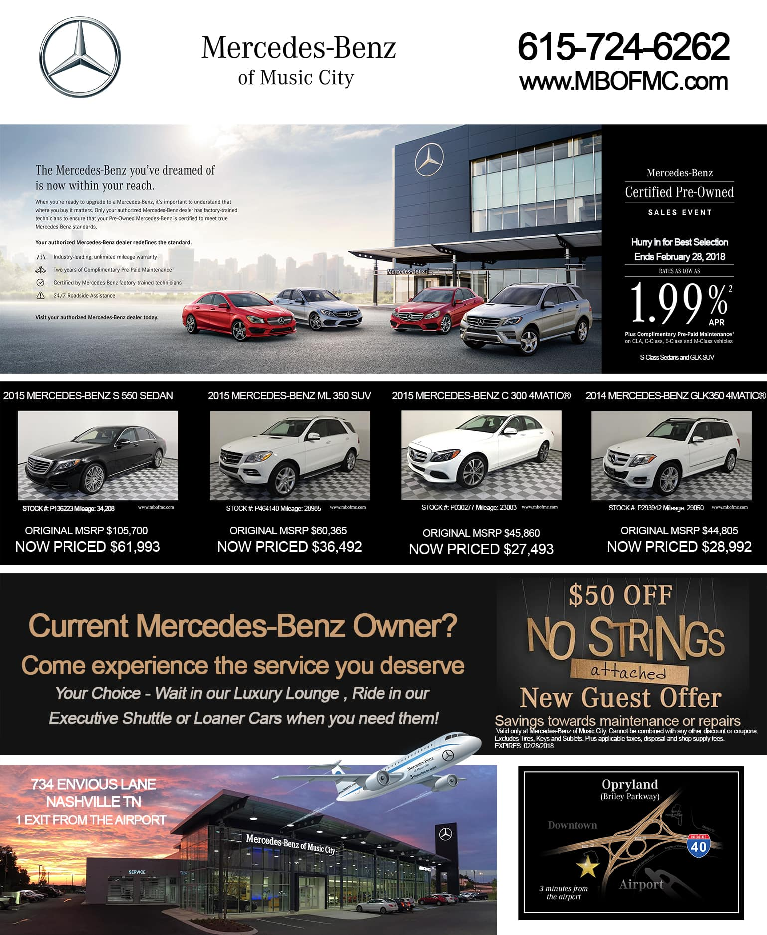 Print ads online mercedes benz of music city for Mercedes benz of music city