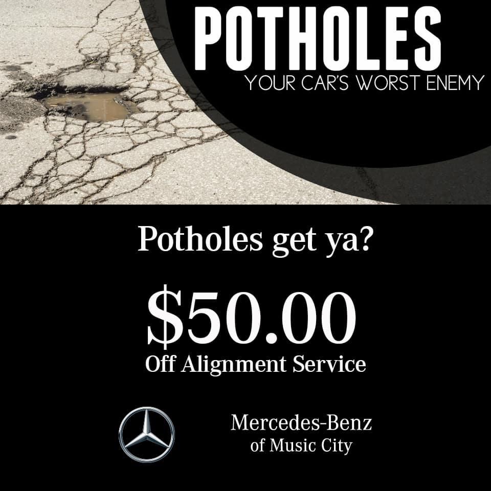 potholes alignment