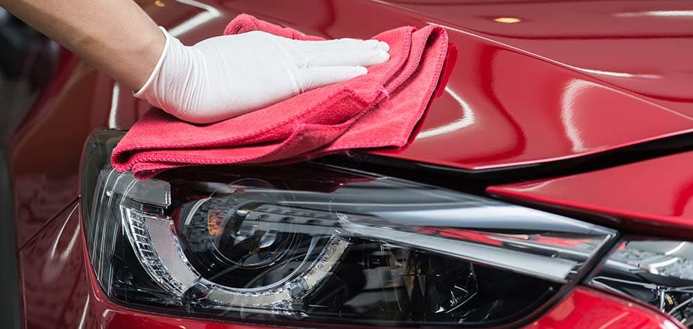 Detailing a Red Car