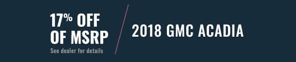 GMC Acadia Banner