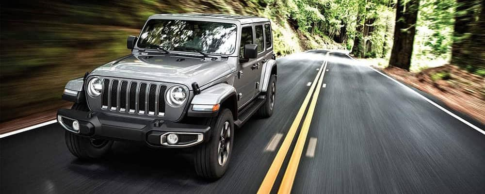 2019 Jeep Wrangler in the forest