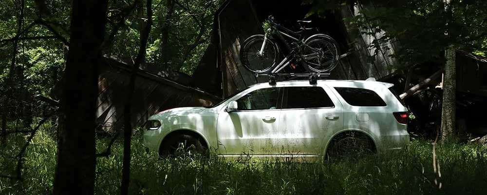 2019 Dodge Durango side view in forest