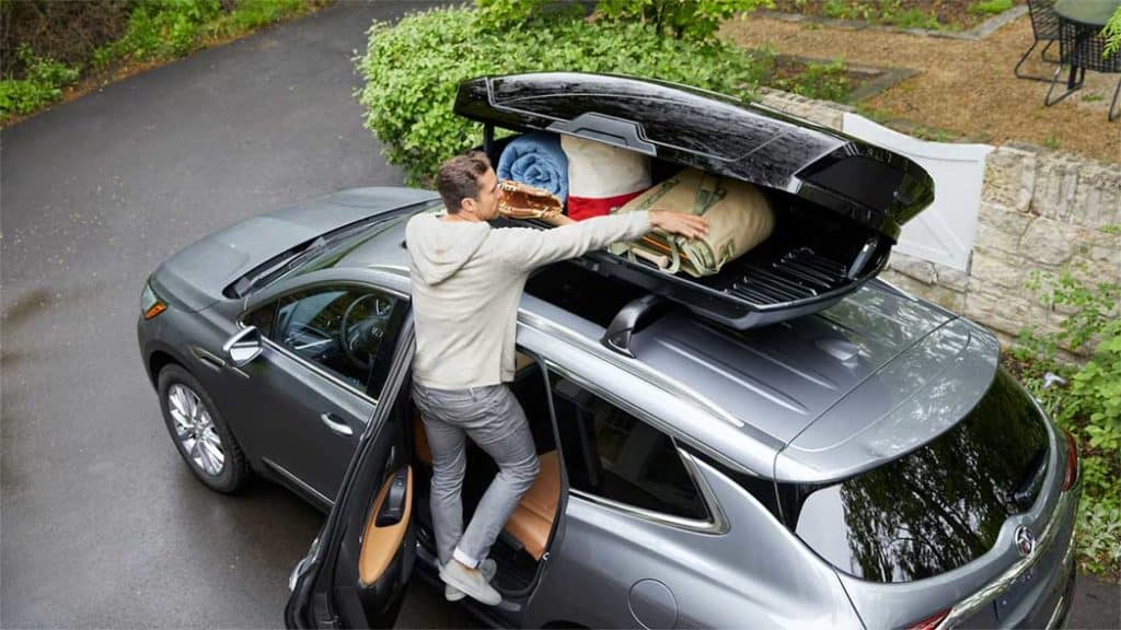 2019 Buick Enclave with camping gear
