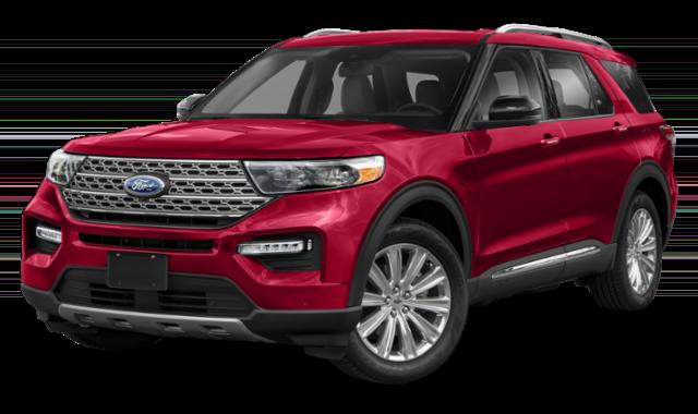 Red 2020 Ford Explorer