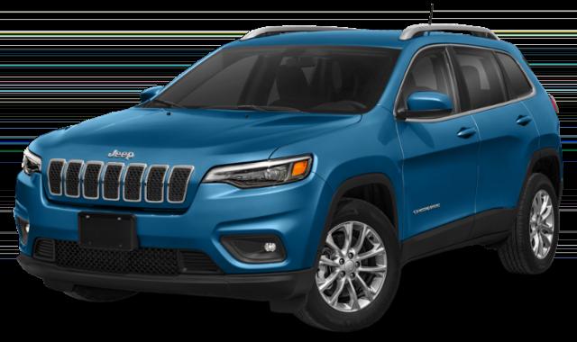 blue 2020 Jeep Cherokee