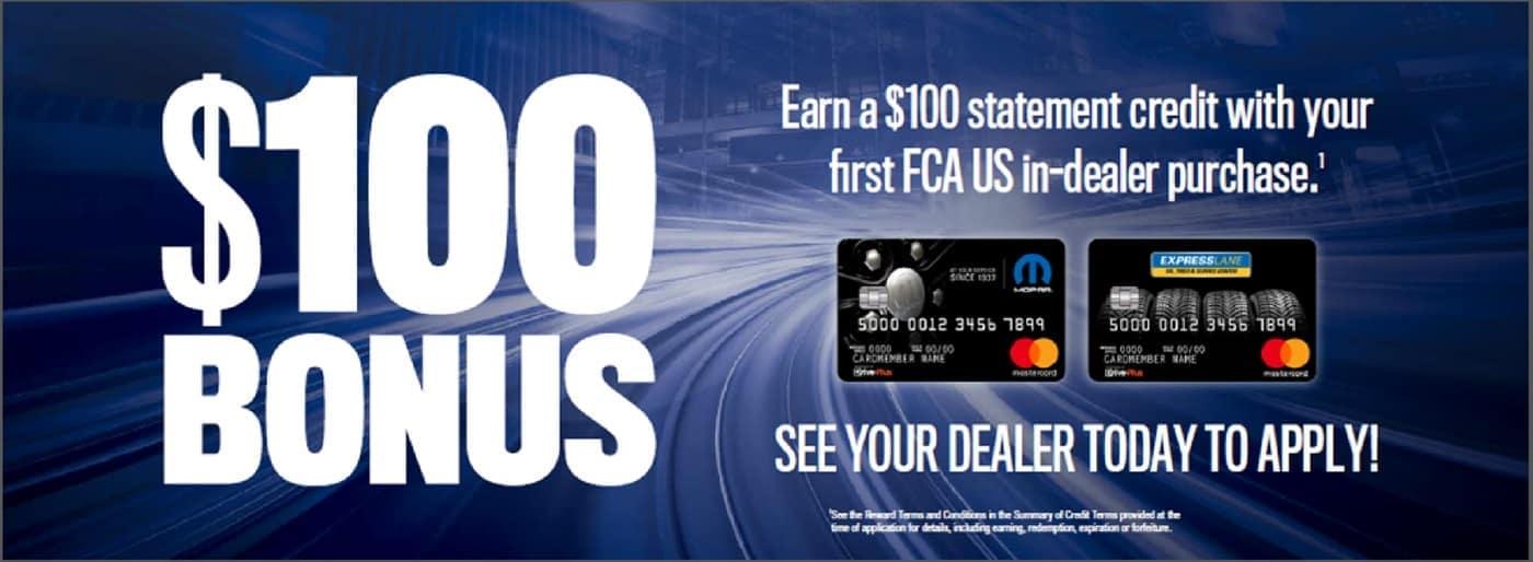 $100 Bonus Banner