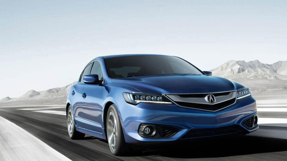 2017 Acura ILX with mountains in background