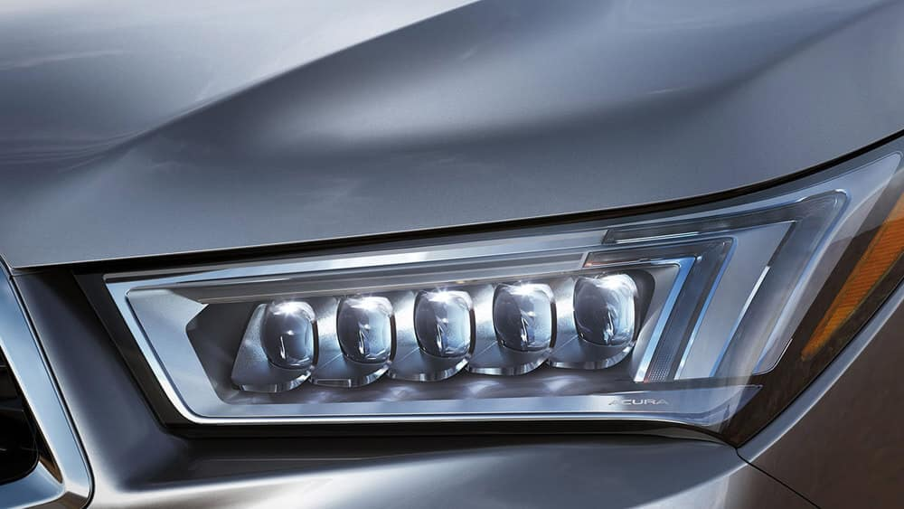 2017 Acura MDX base Lunar Silver Metallic Jewel Eye LED headlight
