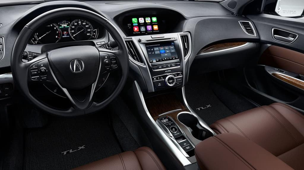 2018 Acura TLX brown interior