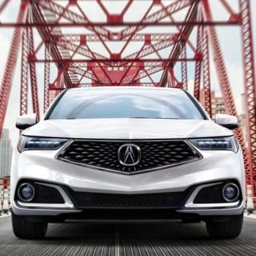 White 2018 Acura TLX front end