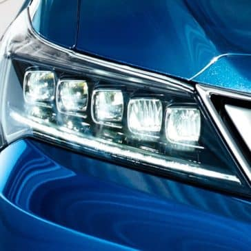 2018 Acura ILX closeup of jewel eye led headlight