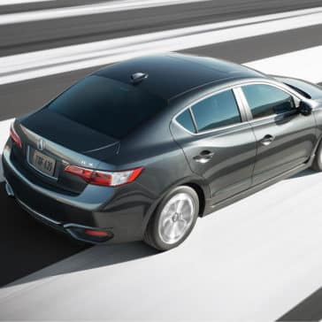 gray 2018 Acura ILX driving top view