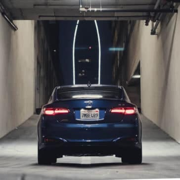 blue 2018 Acura ILX rear end view
